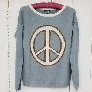 VENUS peace sign sweater size XS